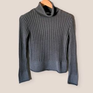 Vintage 90s Grey Turtleneck Sweater Size M